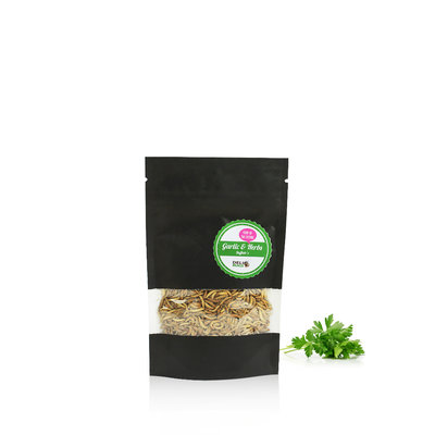 Vers Buffalo lyophilisés Ail & Fines herbes 15 grammes