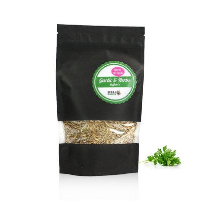 Vers Buffalo lyophilisés Ail & Fines herbes 80 grammes