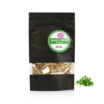 Vers de farine lyophilisés Ail & Fines herbes 70 grammes
